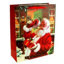 Weihnachtstüte mit Santa 32cm x26cm x10cm