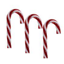 Anhänger Zuckerstange Rot, Weiß 7,5cm 6St