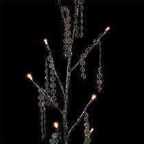 Zweig Silber mit Diamanten LED 75cm 2er-Set
