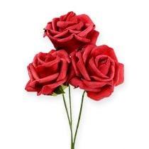 Foam-Rose Ø6cm Rot 27St