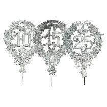 Jubiläumszahlen Silber