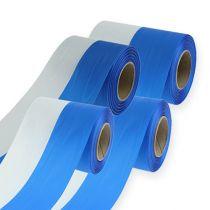 Kranzbänder Moiré blau-weiß
