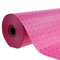Manschettenpapier 37,5cm 100m Pünktchen Pink