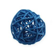 Rattanball Hellblau, Blau, Dunkelblau 30St.