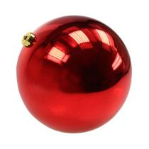 Weihnachtskugel mittel Kunststoff Rot 20cm