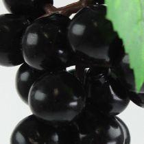Künstliche Mini-Weintrauben Schwarz 9cm