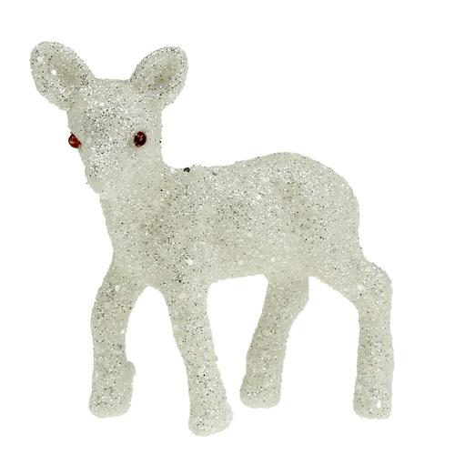 deko reh 7cm wei mit glitter 6st einkaufen in sterreich. Black Bedroom Furniture Sets. Home Design Ideas