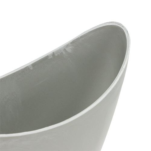Dekoschale Plastik Grau 20cm x 9cm H11,5cm, 1St