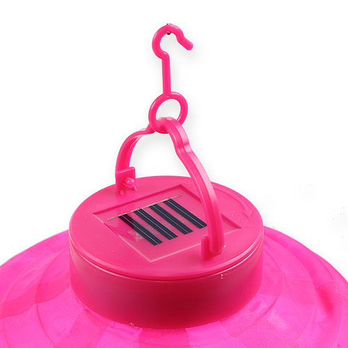 lampion led mit solar 20cm pink einkaufen in sterreich. Black Bedroom Furniture Sets. Home Design Ideas
