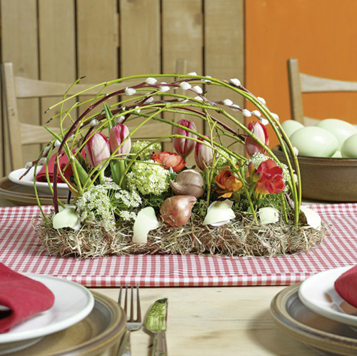 Steckschaum Ziegel Tischdekoration 29cm x 12cm x 8,5cm 4St