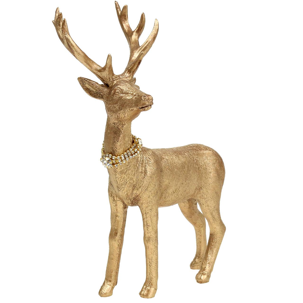 Ausgefallene Hirschfigur Rentier Lila Rot Gold Hängen Glitzer Figur Dekoration