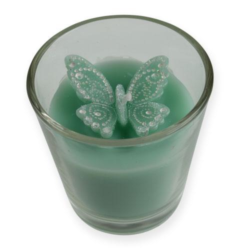 Deko Teelichter Im Glas Mit Schmetterling 2st Einkaufen In