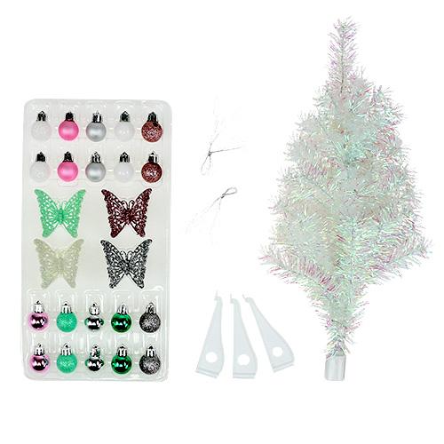 Weihnachtsdeko mini baum bunt 43cm einkaufen in sterreich for Weihnachtsdeko baum