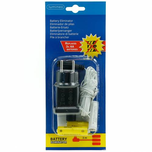 Batterie-Adapter Weiß 3m 4,5V 3 x AA