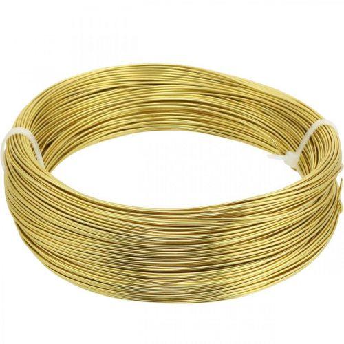 Aluminiumdraht Ø1mm Gold Deko Draht Rund 120g