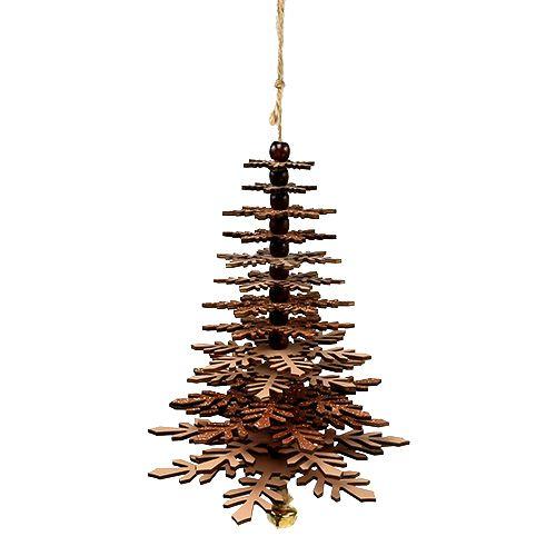 Baum zum Hängen Kupfer mit Glocke 40cm