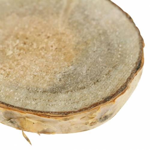 Birkenscheiben rund natur 5cm 1kg für Dekoration mit Rinde