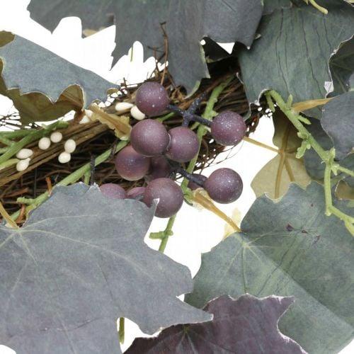 Deko Kranz Weinlaub und Trauben Herbstkranz Weinreben Ø60cm
