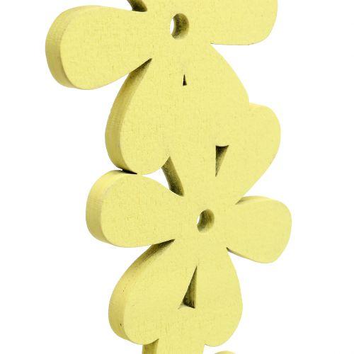 Blütenkranz Holz in Gelb Ø35cm 1St
