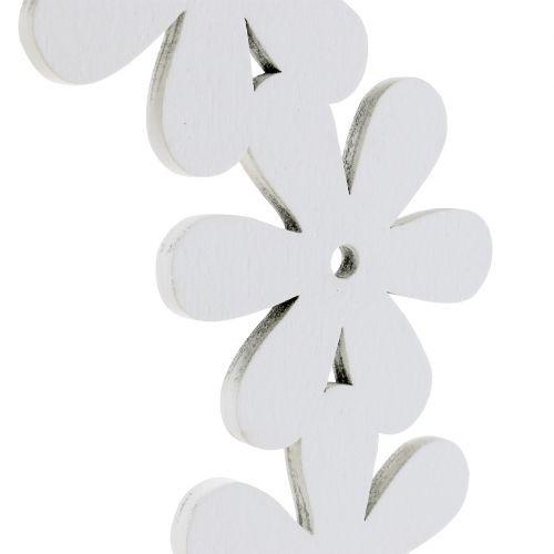 Blütenkranz Holz in Weiß Ø35cm 1St