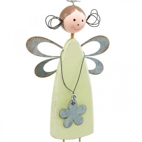 Blumenfee mit Baumelbeinen, Frühling, Kleine Elfen mit Blume, Dekohänger Blütenelfe 3St