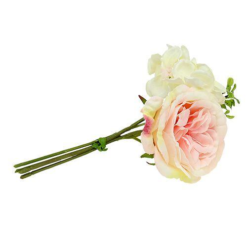 Blumenstrauß Mini Rosa-Creme 20cm