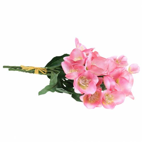 Blumenstrauß Christrosen Rosa 29cm 4St