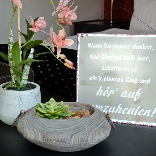 """Schild zum Aufhängen """"Glas"""" 25cm x 25cm 3St"""
