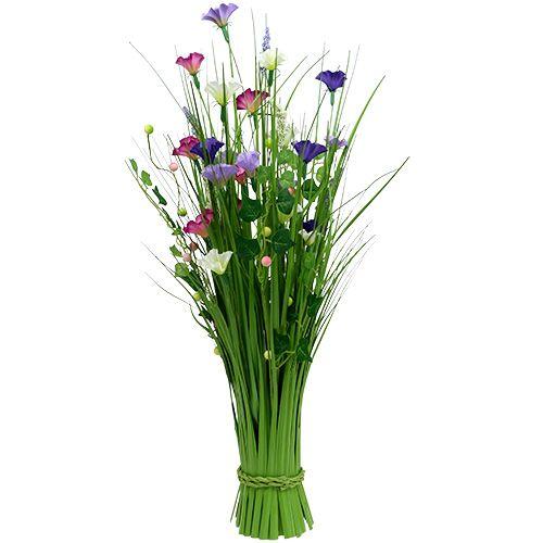 Deko Blumen deko gras mit blumen 72cm bunt einkaufen in österreich