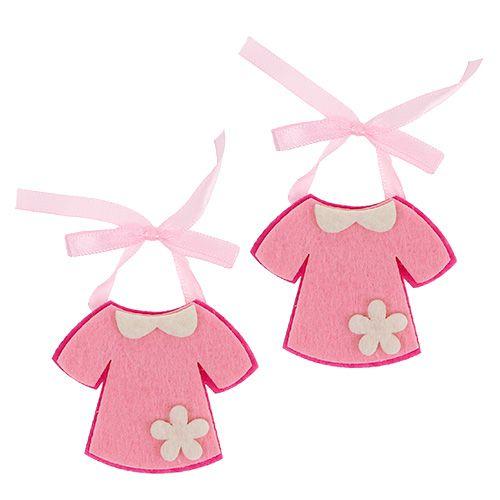 deko zur geburt filzkleid rosa 7cm 20st einkaufen in