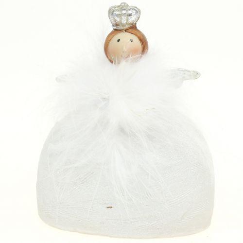 Deko Weiß Silber.Deko Engel Weiß Silber 15 5cm 2st