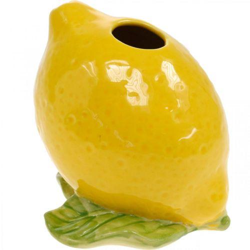 Blumenvase Deko Zitrone Vase Keramik Sommerdeko H11,5cm