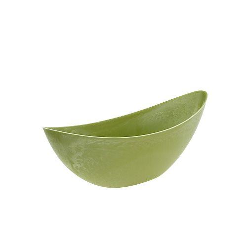 Dekoschale Plastik Hellgrün 39cm x 13cm H13cm