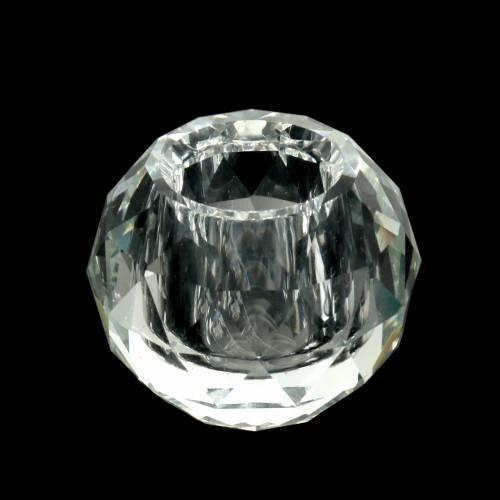 Teelicht Windlicht Glas Teelichthalter Windlichthalter silber Diamant antik 9cm