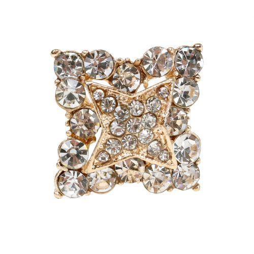 Diamantnadel Hochzeitsdeko Gold 7cm 9St