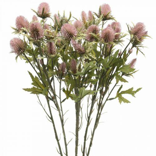 Distel Künstliche Stielblume Rosa 10 Blütenköpfe 68cm 3St