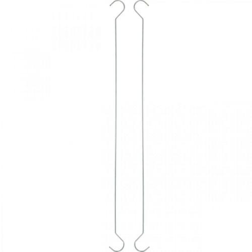 Metall-Haken, Doppelhaken Silbern XL L40cm 5St