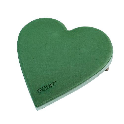 Steckschaum Herz mit Click System Steckmasse Grün 20cm 2St