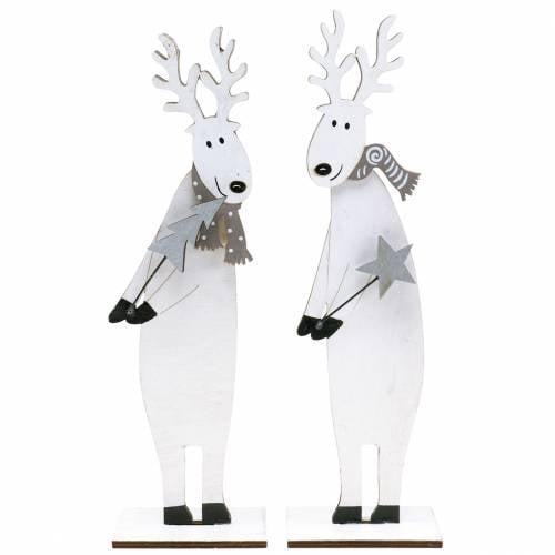 Weihnachtsdeko Elch 27,5cm 2St