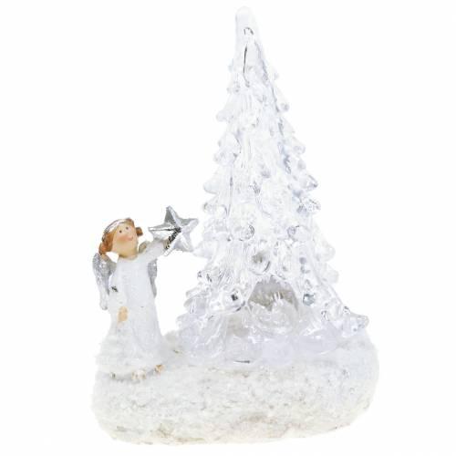 Engel mit LED-Baum 9cm 3St