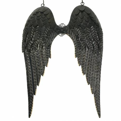 Wanddeko Engelsflügel Schwarz 34cm x 47,5cm
