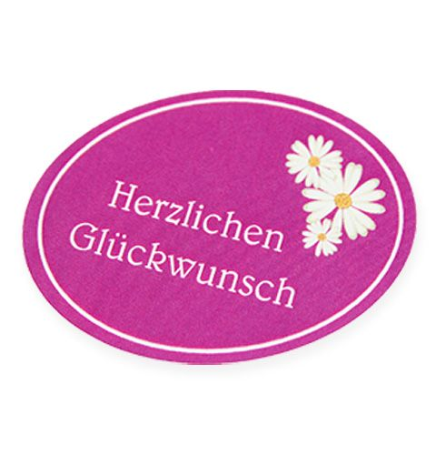 """Etiketten """"Herzlichen Glückwunsch"""" 250St"""
