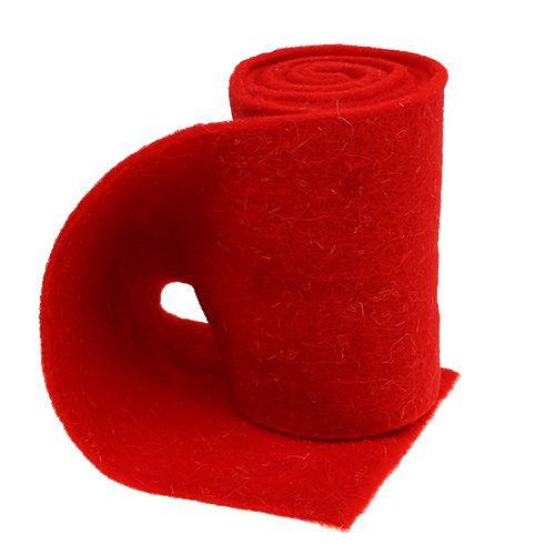 Filzband 15cm x 2m Rot