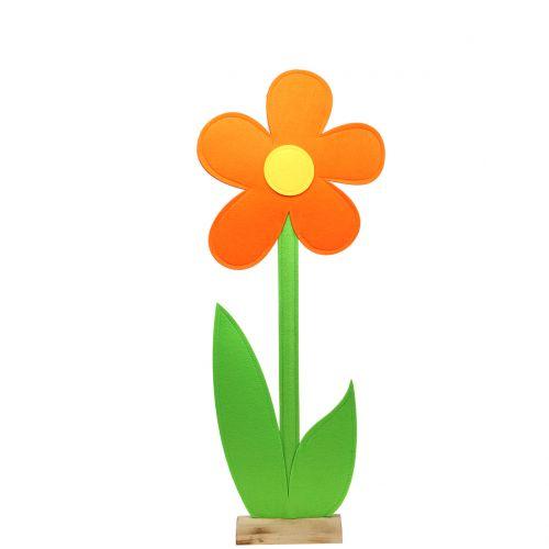 Filzblume Orange 87cm