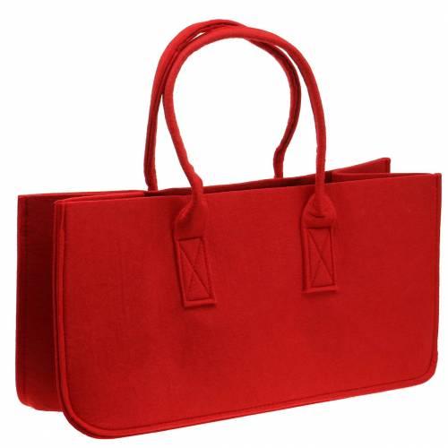 Filztasche Rot 50×25×25cm