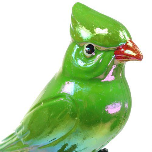 Gartenstecker Papagei Grün 16cm