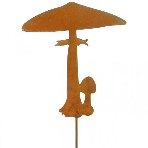 Gartenstecker Pilze Gartendeko Rost Metall 70cm
