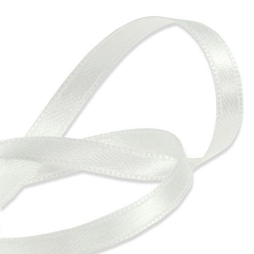 Geschenk-und Dekorationsband weiß 6mm 50m