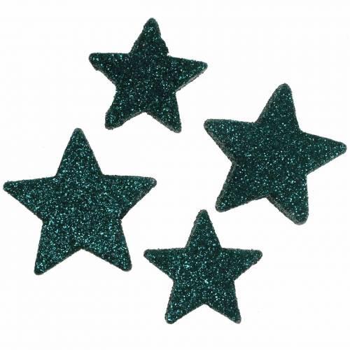 Glittersterne zum Streuen Smaragd 4/5cm Sortiert 40St