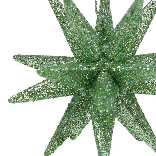 Glitzersterne mintgrün 7,5cm 8St
